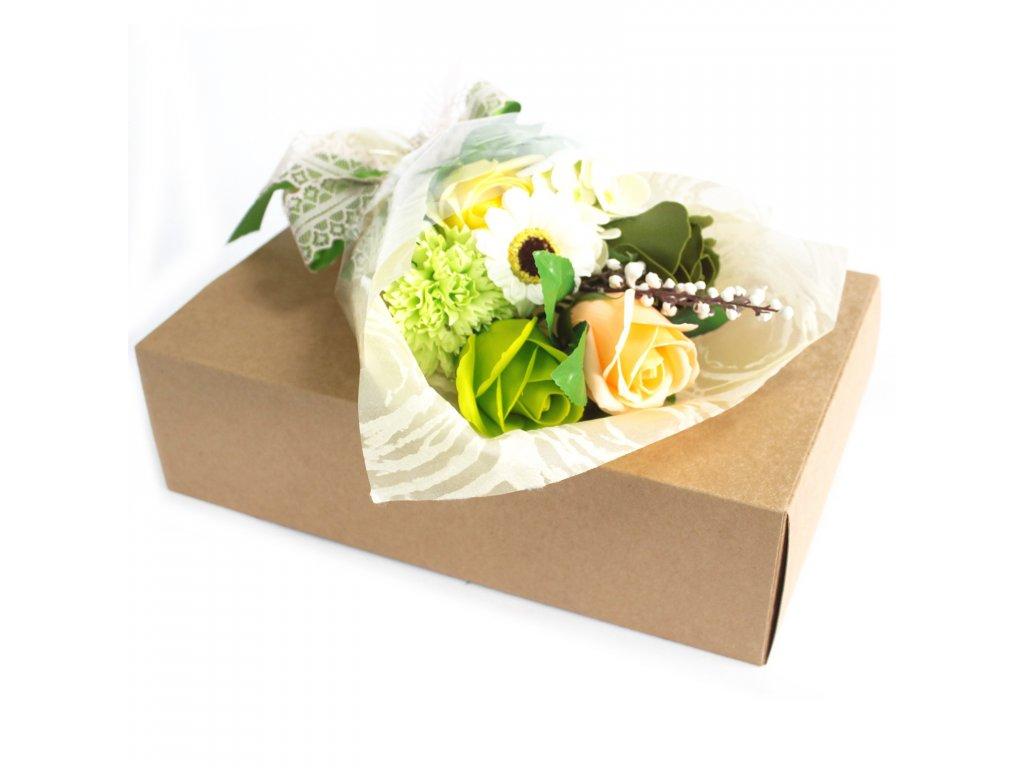 Mýdlová Kytice v Krabici Zelená 1