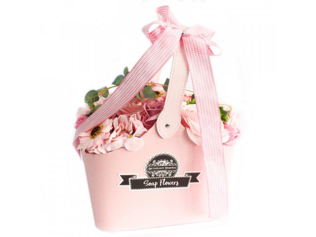 Mýdlová Kytice v Košíku Růžová