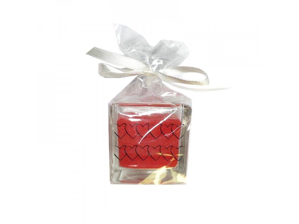 Svíčka malá červená 1