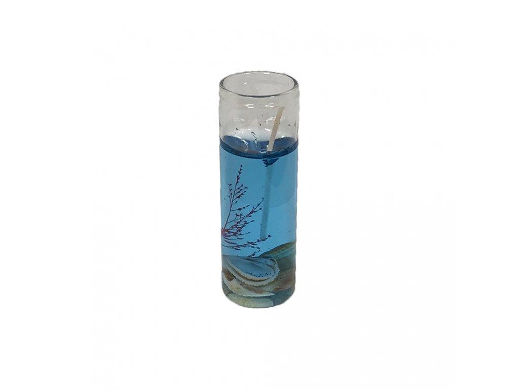 svíčka malá dekorativní modrá