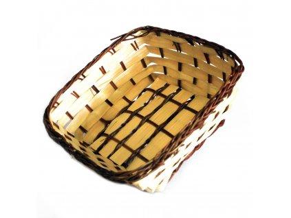 Košík bambusový Čtvercový 16.5cm
