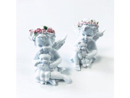 Anděl s Medvídkem a Růžovou Růží