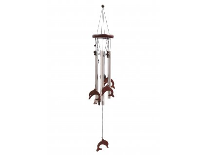 Klasická Kovově Dřevěná Zvonkohra Delfíni