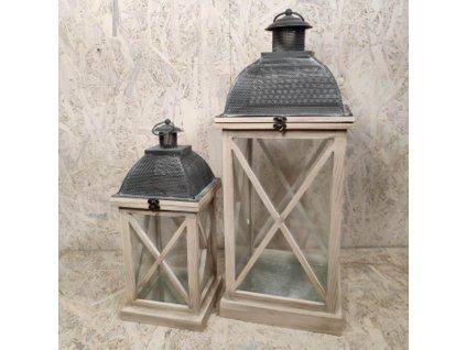 Dřevěná lucerna Minaret 41cm - malá