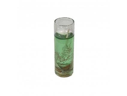 svíčka malá dekorativní tmavě zelená