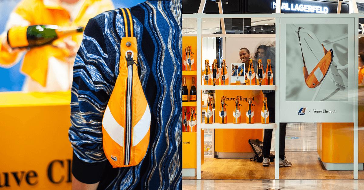 Osvěžující spojení Veuve Clicquot se značkou trendy barevných pláštěnek  K-WAY®
