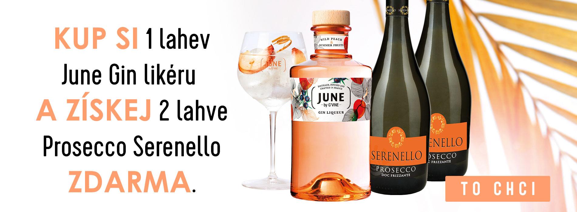 Kup si June Gin Likér a získej 2x Prosecco Serenello ZDARMA