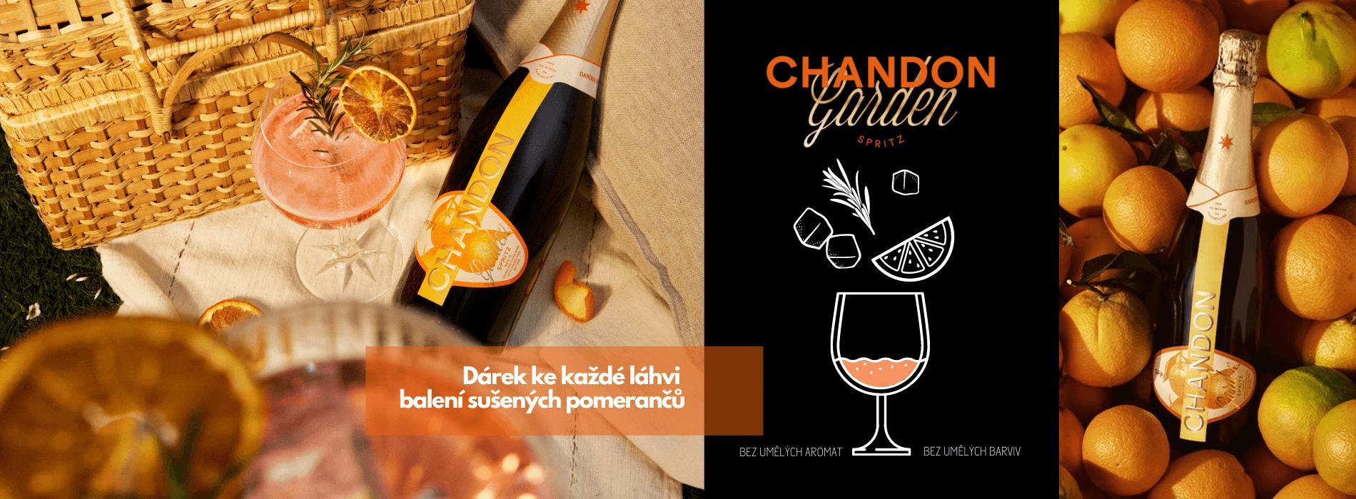 Dárek, k láhvi Chandon Garden Spritz - balení sušených pomerančů