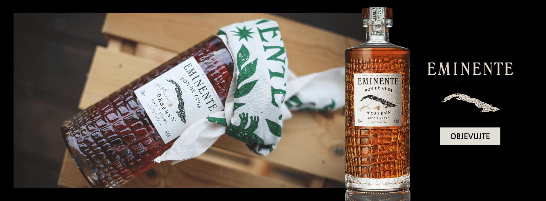 NOVINKA Eminente Reserva - tradiční kubánský Rum s Originálním Šátkem