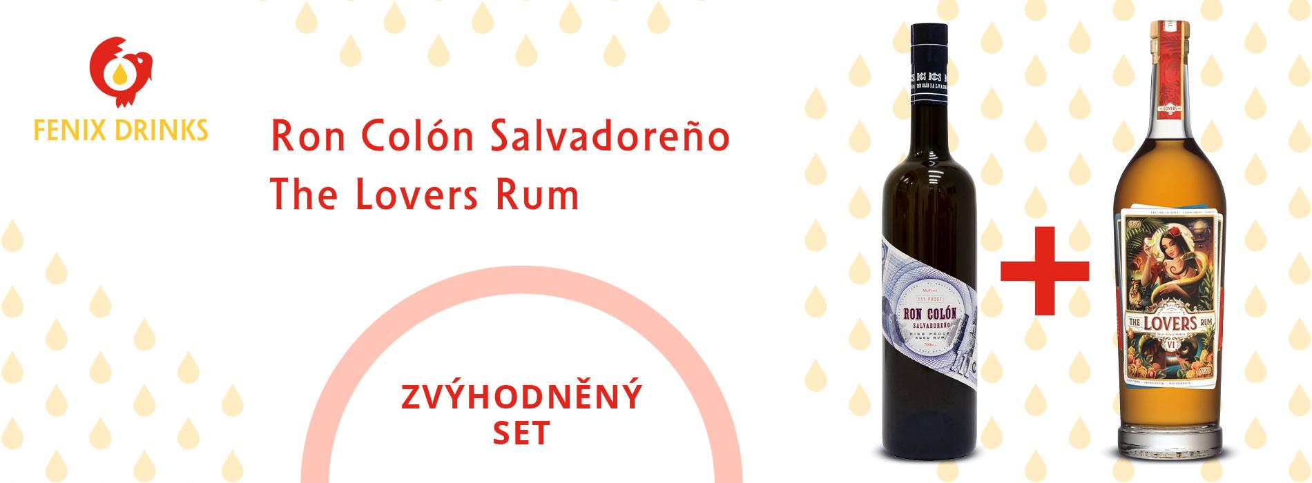 Akční set The Lovers Rum a Dark Aged Ron Colón Salvadoreño.