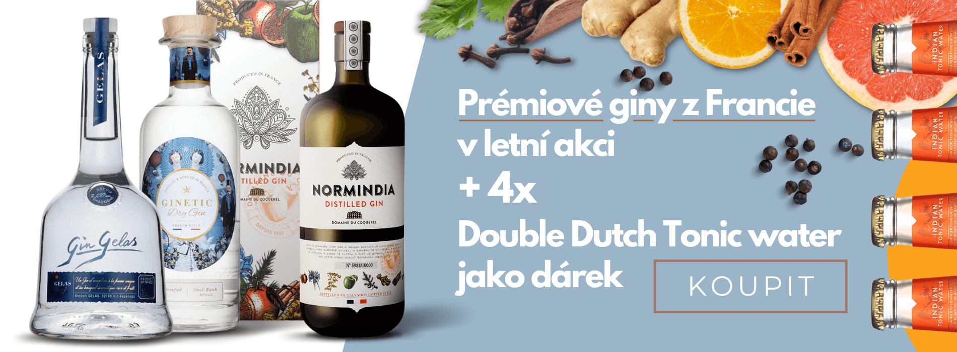 Prémiové giny z Francie + 4x Double Dutch Indian Tonic jako DÁREK