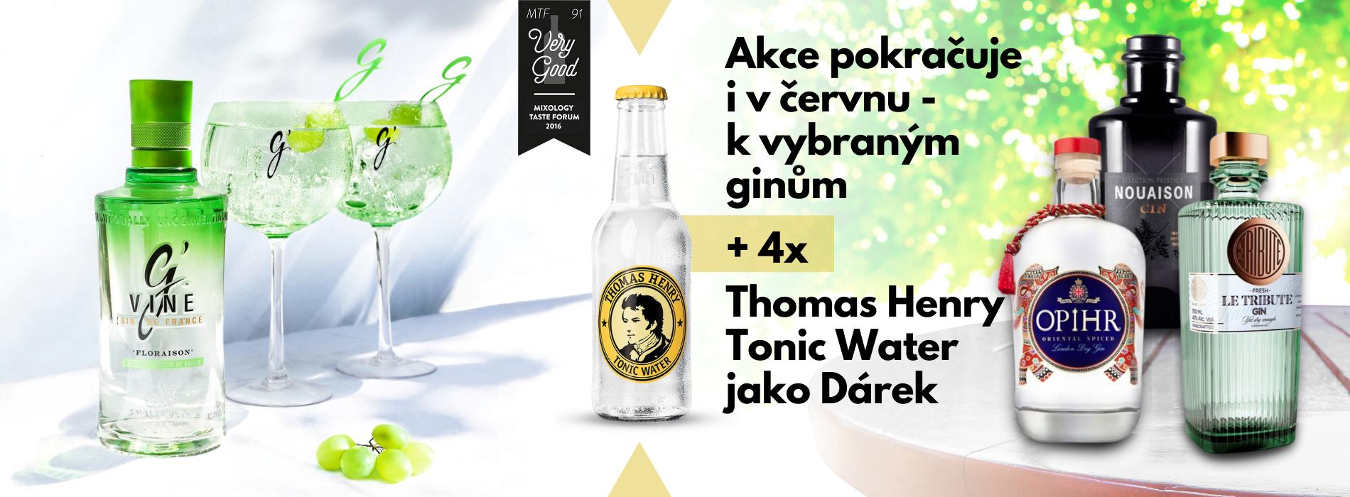 I v červnu výběr Ginů + 4x Thomas Henry Tonic Water