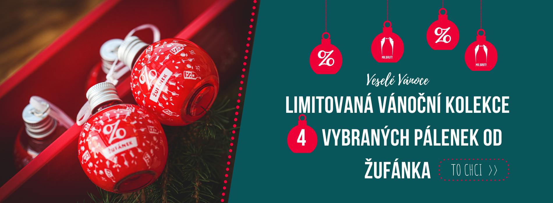 Vánoční alko koule Žufánek 4 x 0,06 l, výběr destilátů