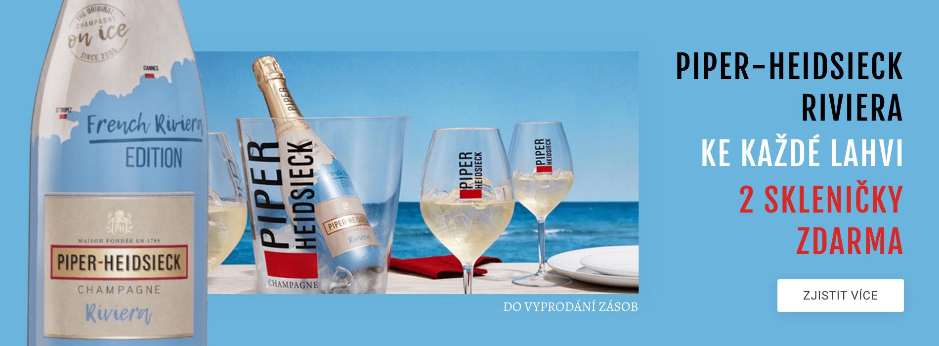Riviera Champagne + 2 skleničky ZDARMA
