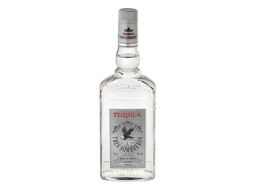 Tres Sombreros Tequila Silver 1 l 38%