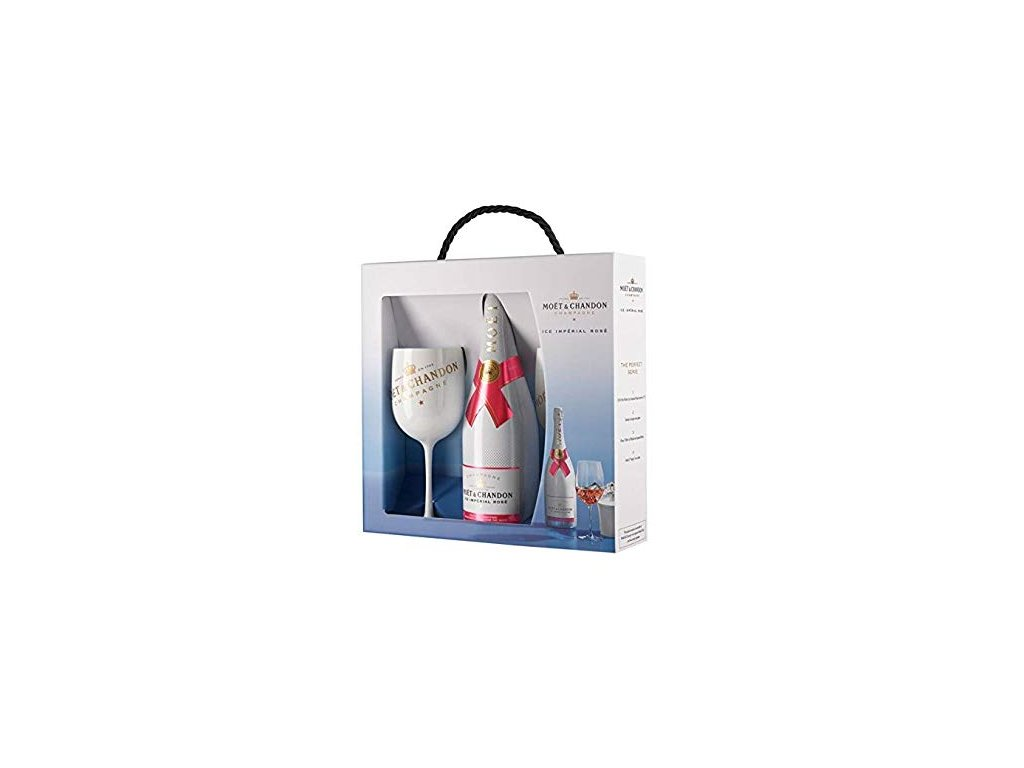 Moët & Chandon ICE Impérial Rosé + 2 originální skleničky 0,75l