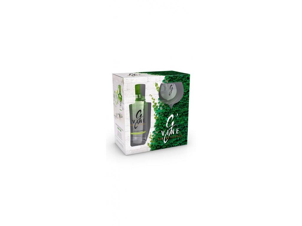 G'vine Gin Floraison 40% 0,7 + Originální sklenička, Dárkové balení