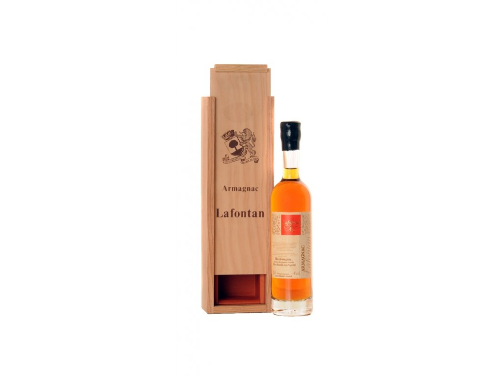 Lafontan Armagnac 0,2 v dřevěné krabičce 1956