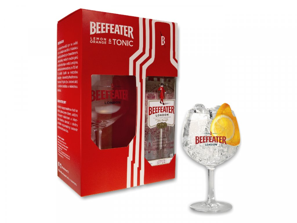 Beefeater 40% 0,7l giftbox + originální sklenička