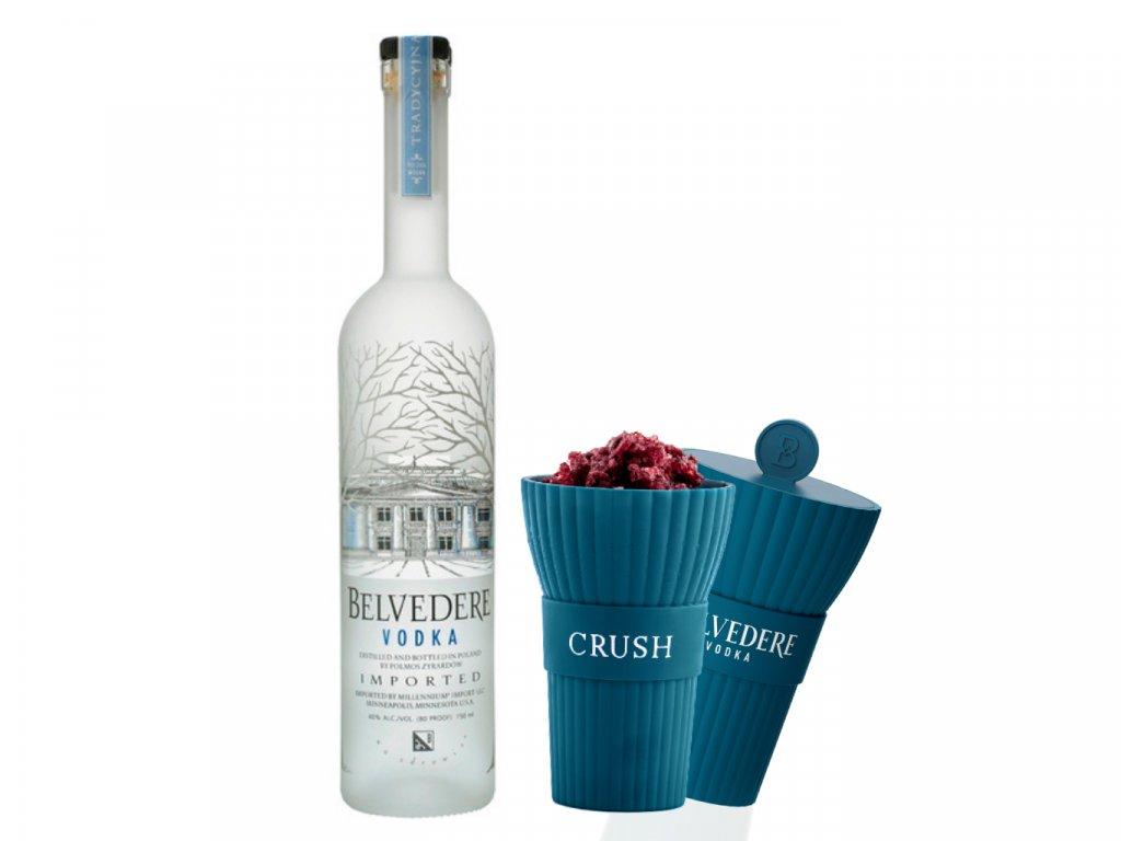 Belvedere Vodka 0,7l 40% + 2 speciální silikonové kelímky