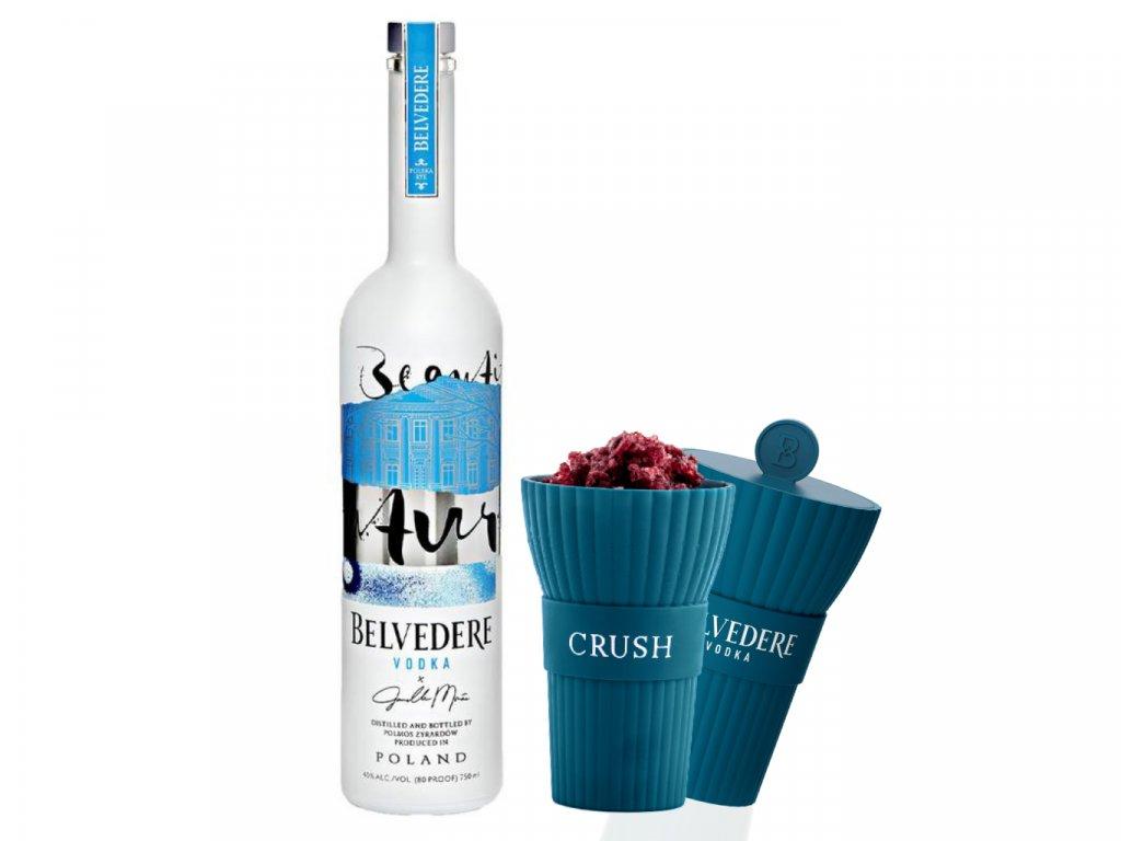 Limitovaná edice Janelle Monáe Belvedere Vodka 0,7l 40% + 2 speciální silikonové kelímky
