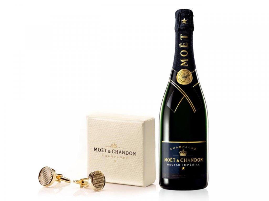 Moët & Chandon Nectar Impérial 0,75l Šampaňské +originální manžetové knoflíčky Moët