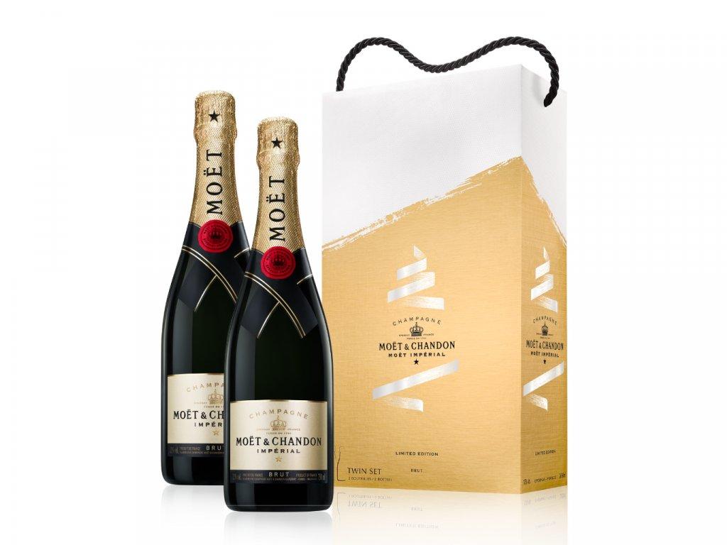 Moët & Chandon Impérial EOY festive Twin set giftbox 2x 0,75l