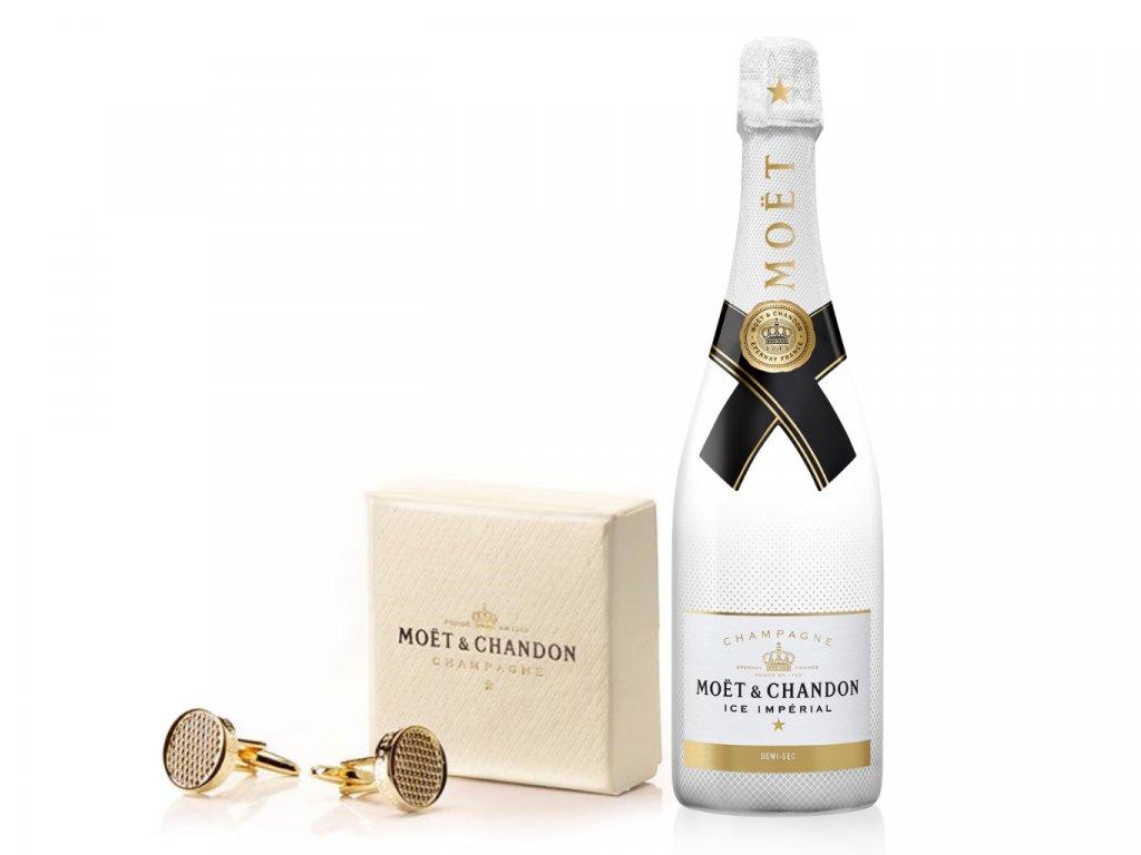Moët & Chandon ICE Impérial 0,75l Šampaňské + originální manžetové knoflíčky Moët