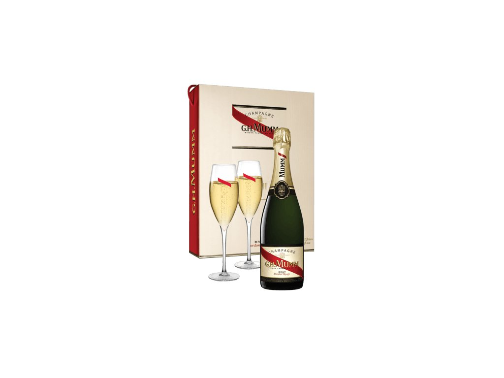 champagne mumm cordon rouge gift set 2 champagne flutes
