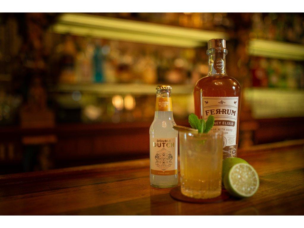 Ferrum Honey Elixir 35% 0,7 + 4x Double Dutch Ginger Beer 0,2