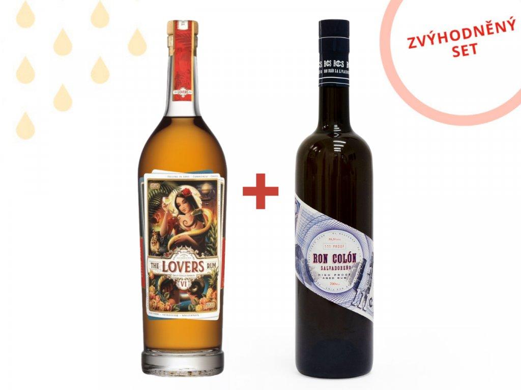 The Lovers Rum 43,0% 0,7 + Ron Colon Salvadoreño 55,5% 0,7l