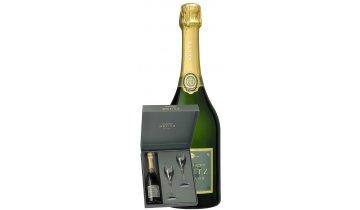 Champagne Deutz Brut Classic 0,75, 12% gift box + 2 skleničky