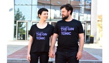 Černé Triko Gin&Tonic Dámské