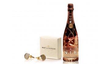 Moët & Chandon N.I.R Nectar Impérial Rosé 0,75l + originální manžetové knoflíčky Moët