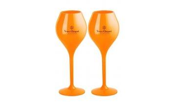 2 Plastové Skleničky Veuve Clicquot