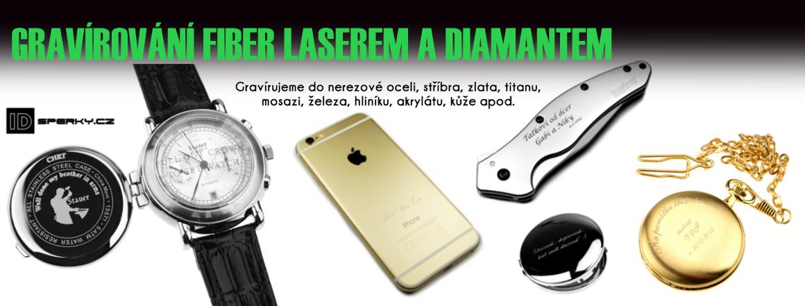 Gravírování laserem a diamantem
