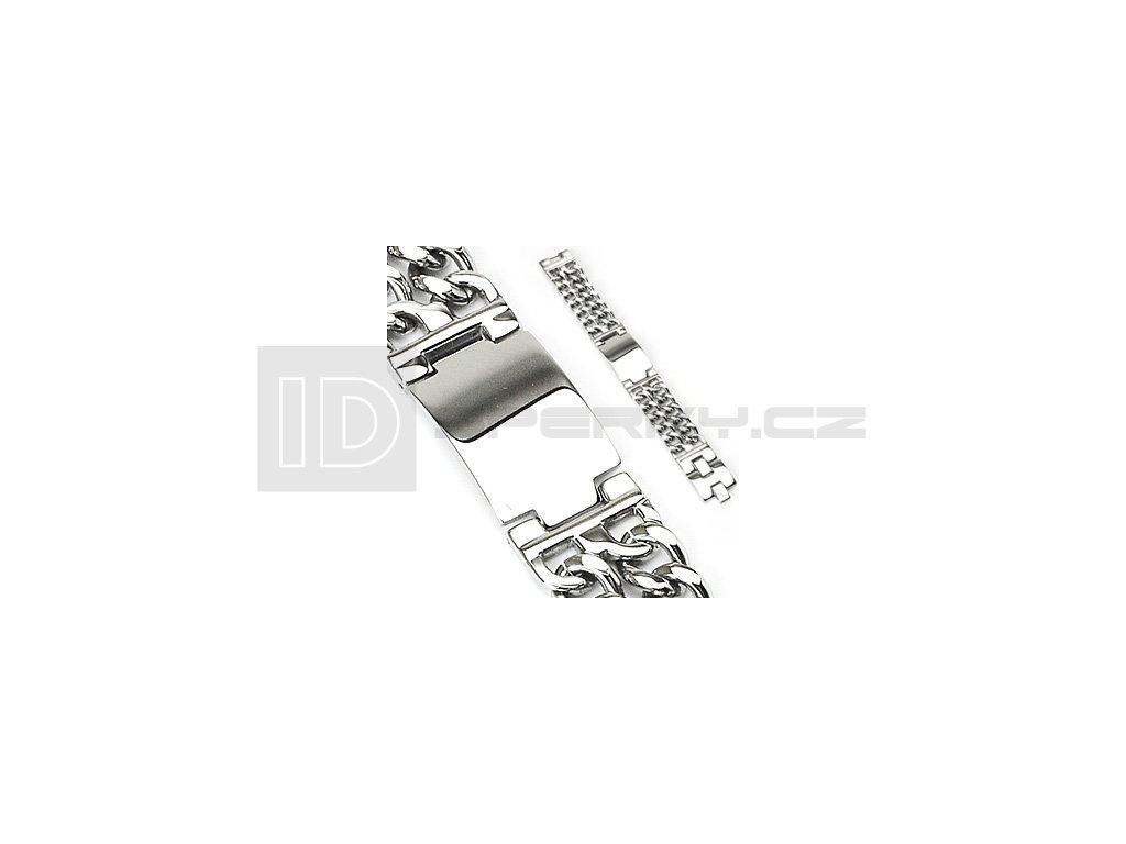 Náramek z chirurgické oceli SPIKES SSBQ-0788