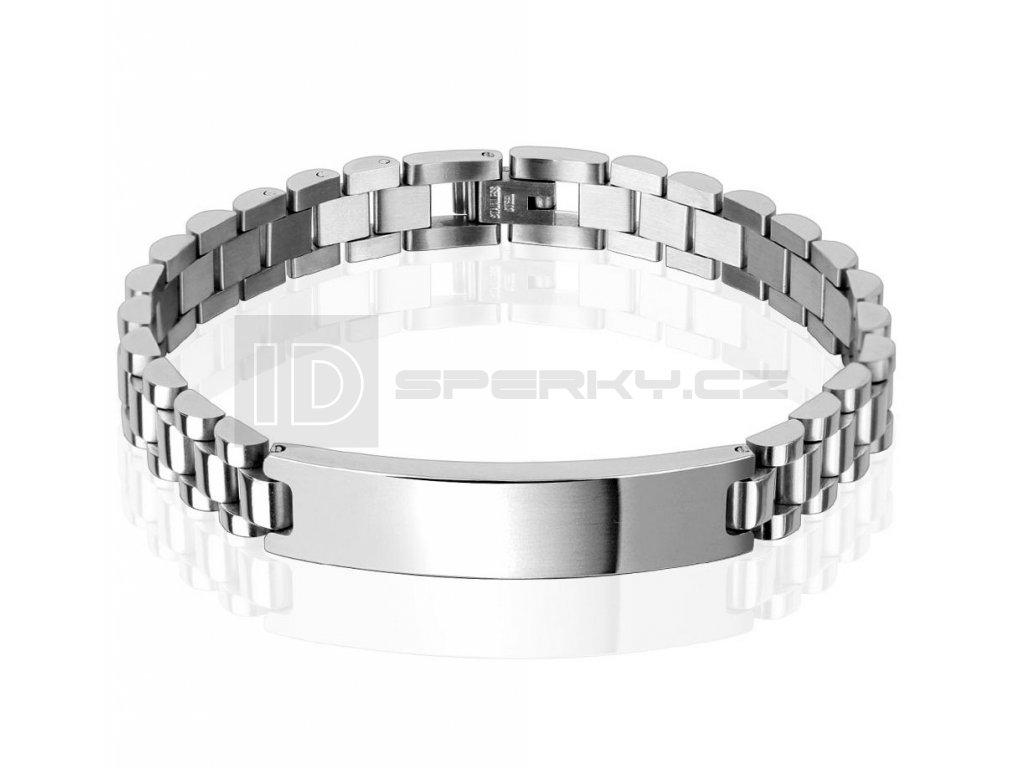 Náramek z chirurgické oceli SPIKES SSBQ-5435