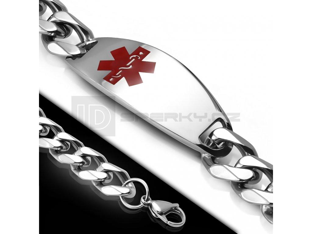 Náramek z chirurgické oceli BHB572 s logem EMS