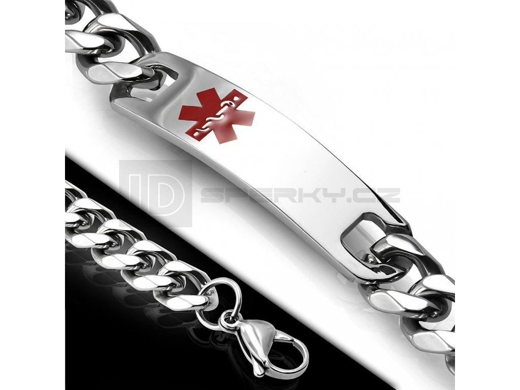 Náramek z chirurgické oceli BHB568 s logem EMS