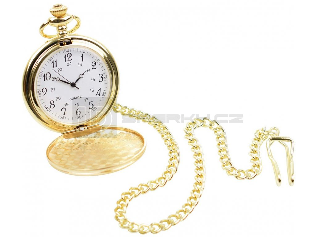QUARTZ ARABIC GOLD POCKET WATCH