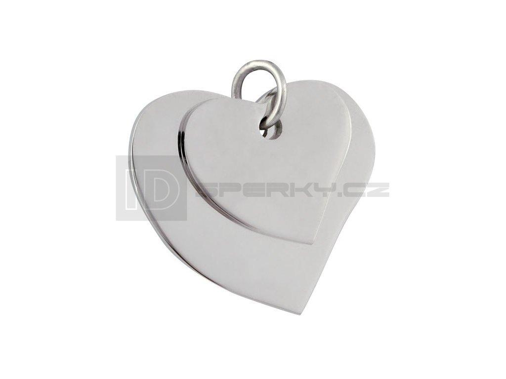 Přívěsek z chirurgické oceli TWO HEARTS 24217