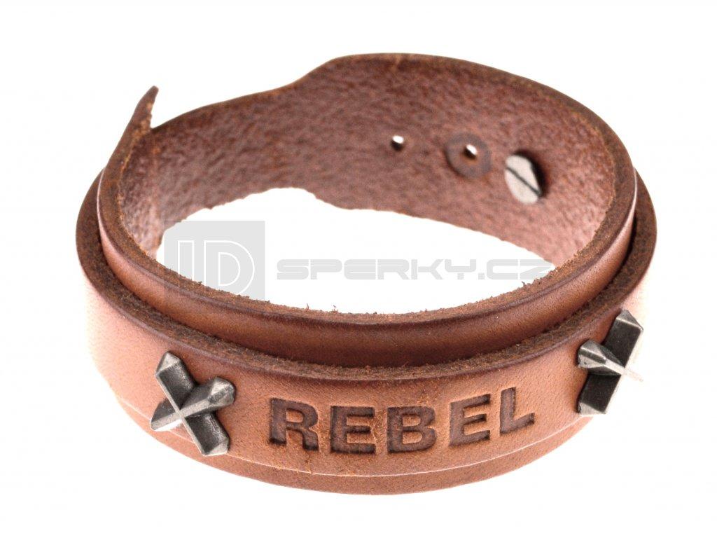 Kožený náramek REBEL