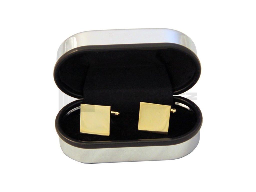 Manžetové knoflíčky SOLO Classic Square Gold Plated
