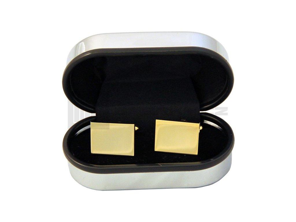Manžetové knoflíčky SOLO Classic Rectangle Gold Plated