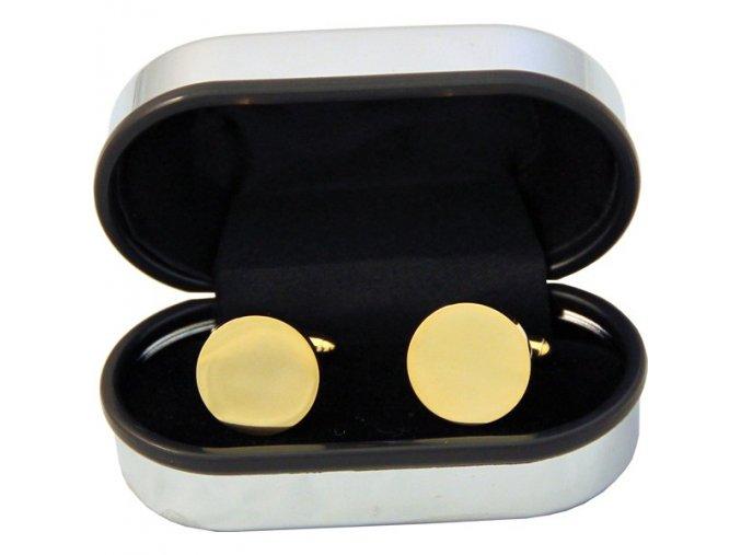 Manžetové knoflíčky SOLO Classic Round Gold Plated