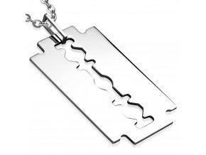 Přívěsek z chirurgické oceli maxi žiletka PAC296