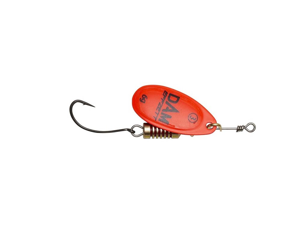 dam spinner single hook orange