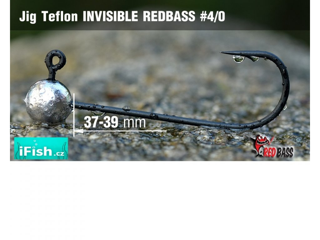 Redbass jigová hlavička Teflon Invisible vel. 4/0