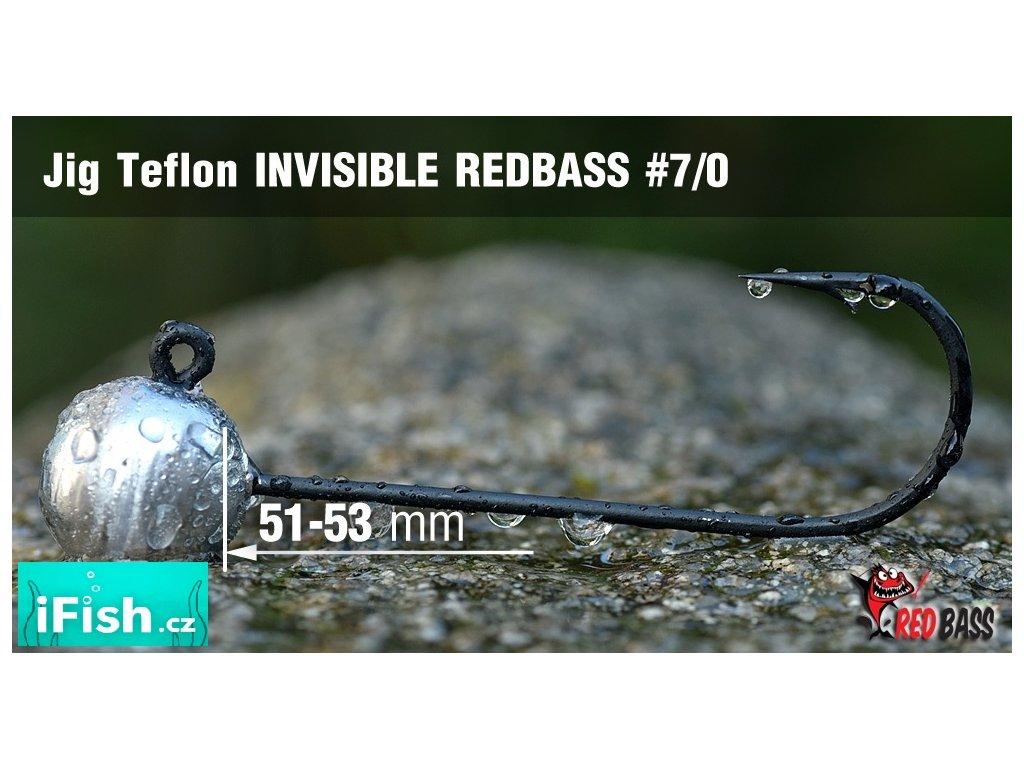 Redbass jigová hlavička Teflon Invisible vel. 7/0